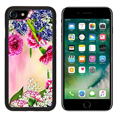 505 Apple (MSD Premium Apple iPhone 7 Aluminum Backplate Bumper Snap Case iPhone7 Background of flowers carnation IMAGE 36031484)