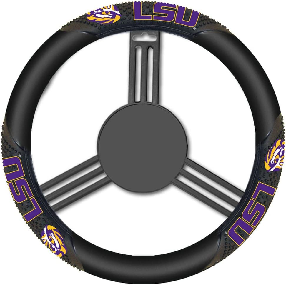 Fremont Die NCAA Massage Grip Steering Wheel Cover