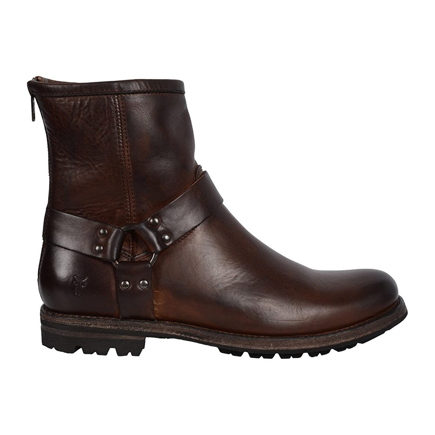 Frye Men's Phillip Lug Harness Dark Brown Oiled Vintage Boot 9.5 D (M): Buy  Online at Low Prices in India - Amazon.in