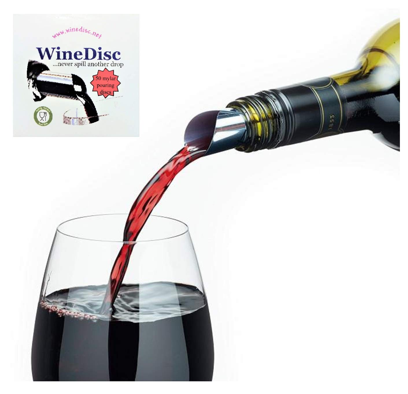 The Original Wine Disc - Drop Stopping Pour Spout (50) by WineDisc (Image #1)