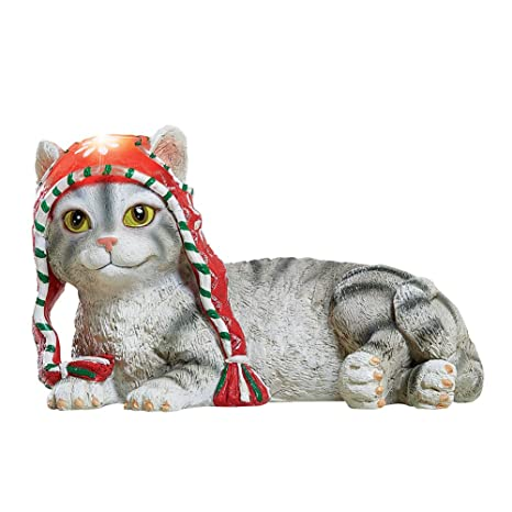 Amazon.com: Collections Etc - Gatos solares con sombreros ...