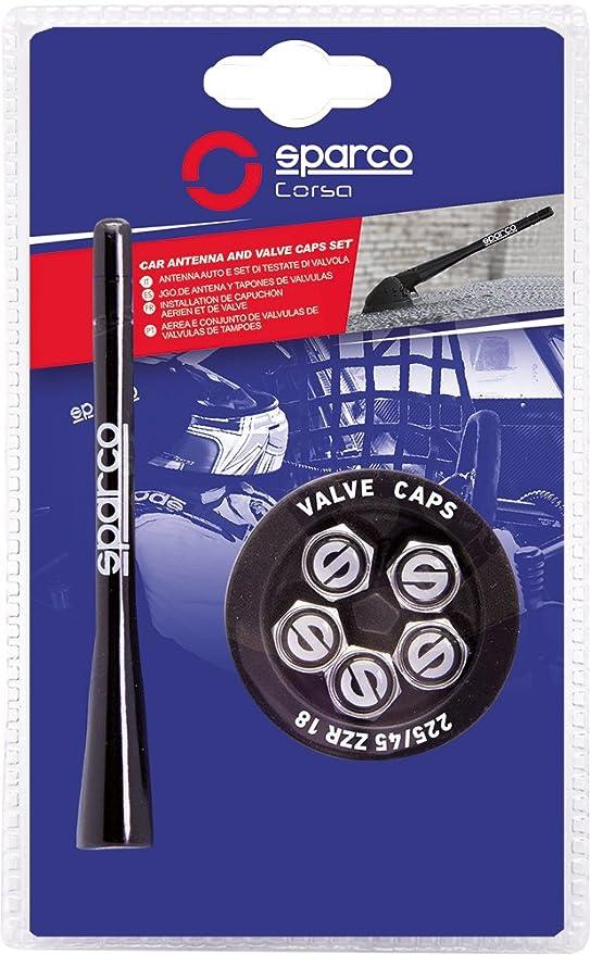 Sparco SPC1417 Antena y Válvulas de Aluminio, Azul: Amazon.es: Coche y moto
