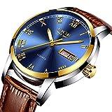Luxury Brand Men's Quartz Watches Auto Date Wristwatches Fashion Casual Business Watch Leather Strap Waterproof Sports Watch