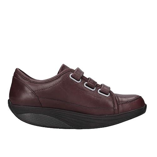 Y Zapatillas Cuero es Nasbcmarrone Marrón Amazon Zapatos Mujer Mbt q8a11