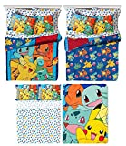 Pokémon 5 Piece Kids Twin Bedding Set - Reversible Comforter, Sheet Set with Reversible Pillowcase and Ultra Soft Throw Blanket