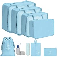 YASEE CHOICE 8Pcs/SET Travel Luggage Organizer Packing Cubes Set Storage Bag Waterproof Laundry Bag Traveling Accessories or Men and Women