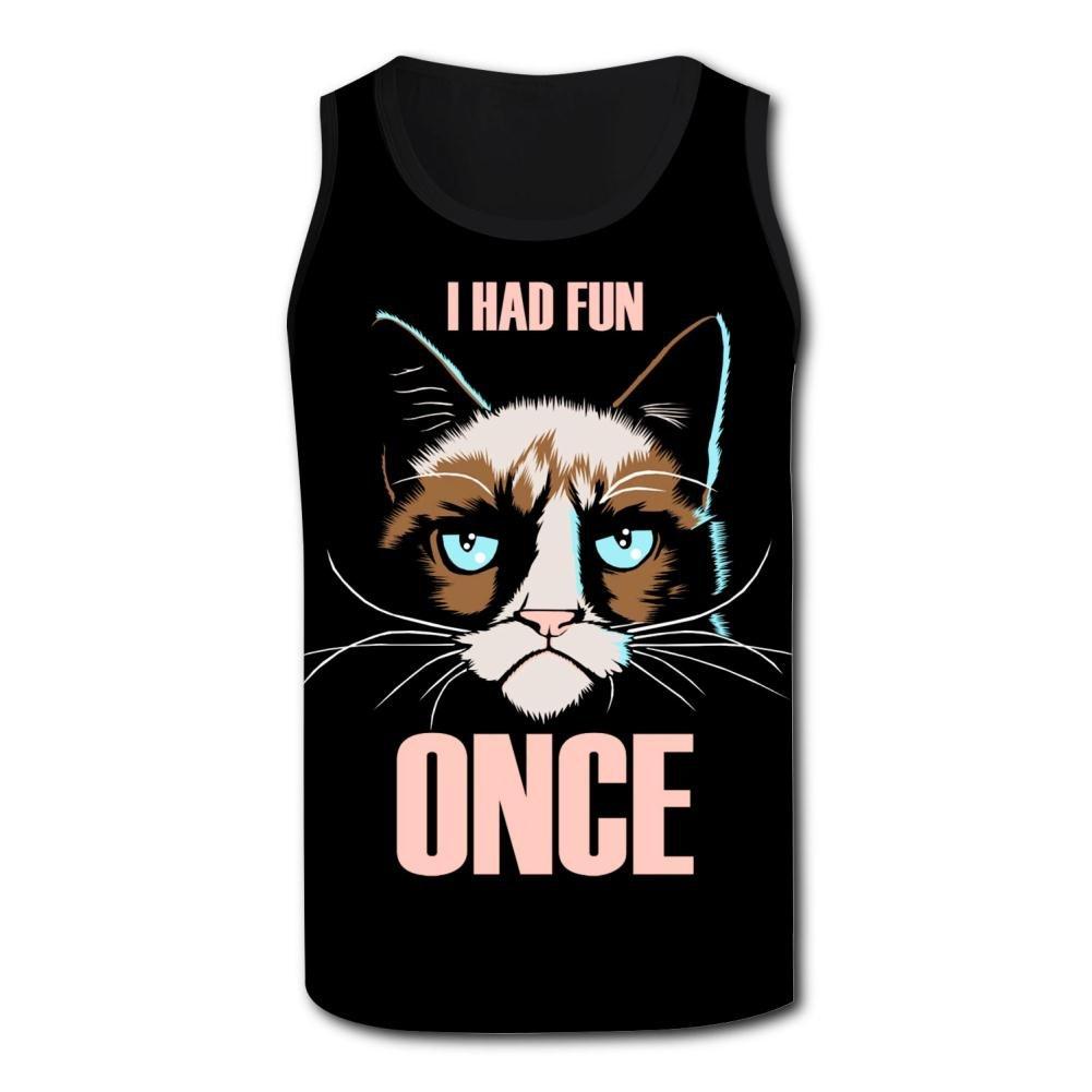 Mens Proud Cat 3D Print Tank Top Sleeveless