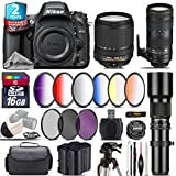 Holiday Saving Bundle for D610 DSLR Camera + 70-200mm f/2.8E VR Lens + 18-140mm VR Lens + 500mm Telephoto Lens + 6PC Graduated Color Filer Set + 2yr Extended Warranty - International Version