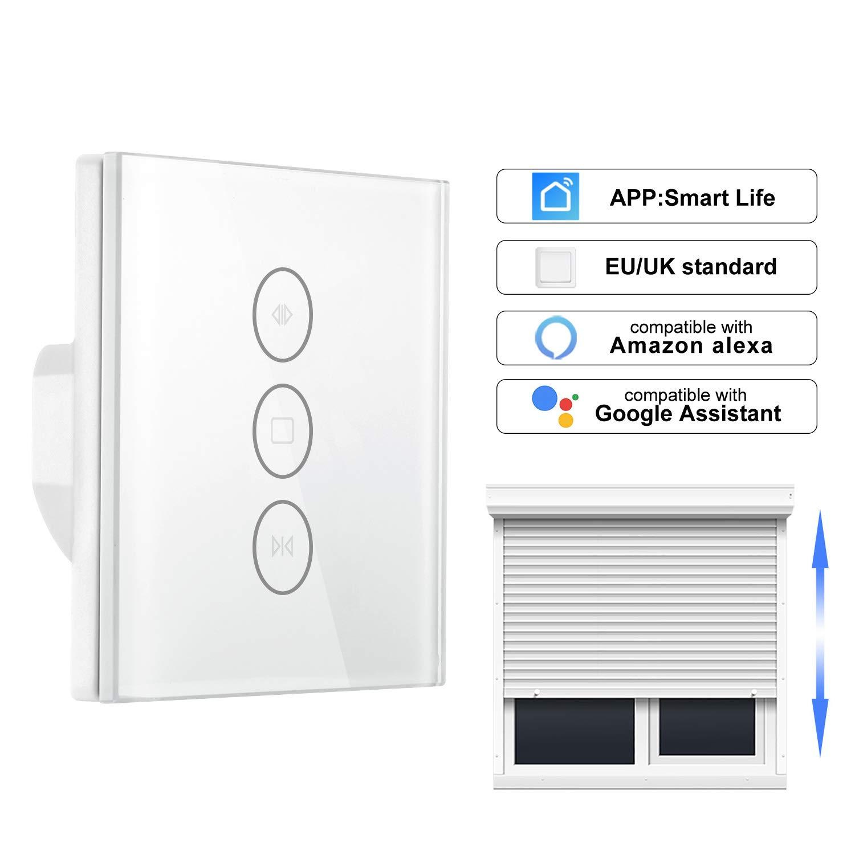 Frontoppy Tipo cortina Interruptor de pared WIFI Control a travé s de APP o Control de voz Compatible con Alexa/Google Home AC110 to 240V