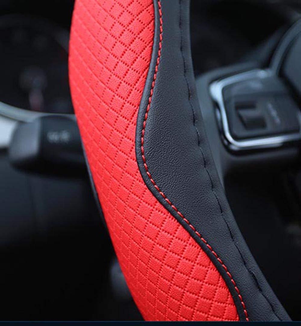 38,1 cm Coprivolante per Auto in Similpelle Antiscivolo ISTN Stile Sportivo Unisex buona Traspirazione Colori a Contrasto