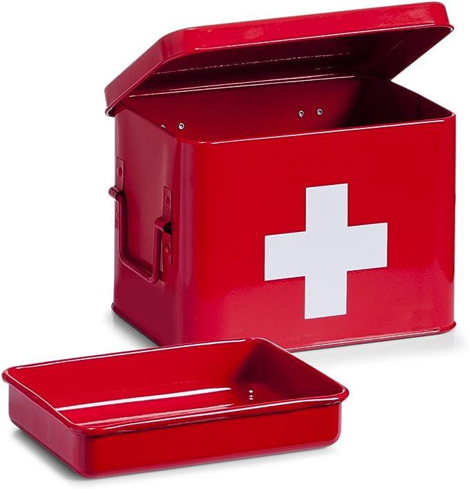 Zeller Present - Caja de Metal para medicamentos (21,5 x 16 cm ...