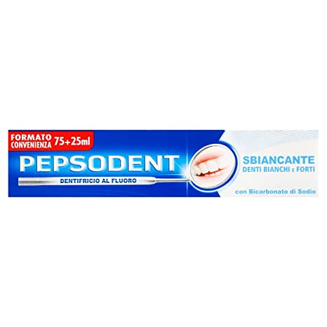 Pepsodent Pasta de dientes en Flúor, kit tratamintno de blanqueo profesional dientes blancos y fuerte
