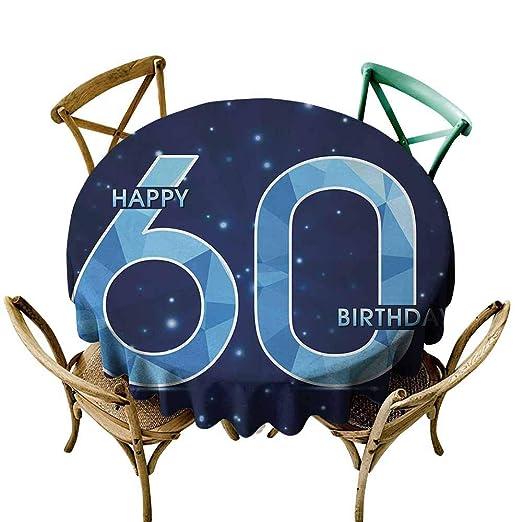 AndyTours Manteles antidecoloración para 60 cumpleaños 60 ...