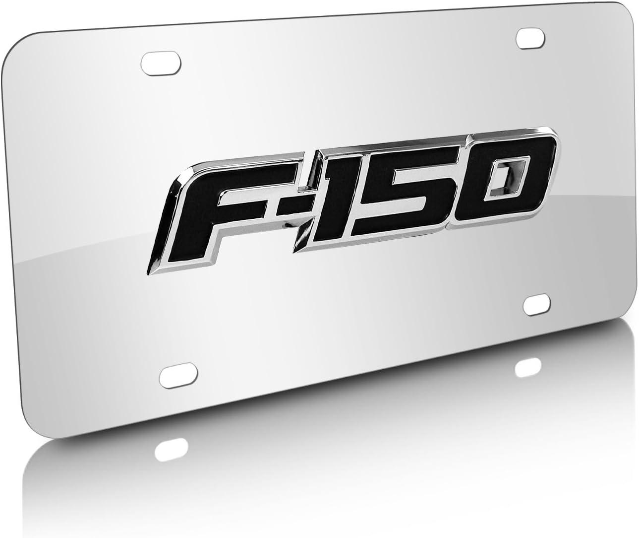 Officially Licensed Chrome Ford F-150 Name on Chrome License Plate
