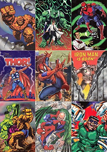 MARVEL UNIVERSE FLAIR 1994 FLEER COMPLETE BASE CARD SET OF 150