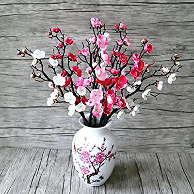 Decorative Wintersweet Faux Silk Plum Blossom Artificial Flower Daily Home Decor