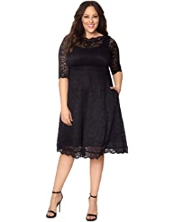 dc248a5c197 Kiyonna Women s Plus Size Lumiere Lace Dress at Amazon Women s ...