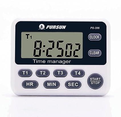 Timer da cucina, 4 canali LCD timer da cucina digitale 1 confezione ...