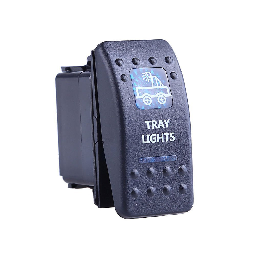 Mintice/™ veicolo auto 12V 20A LED blu interruttore a bilanciere luce 5Pin Bar Light