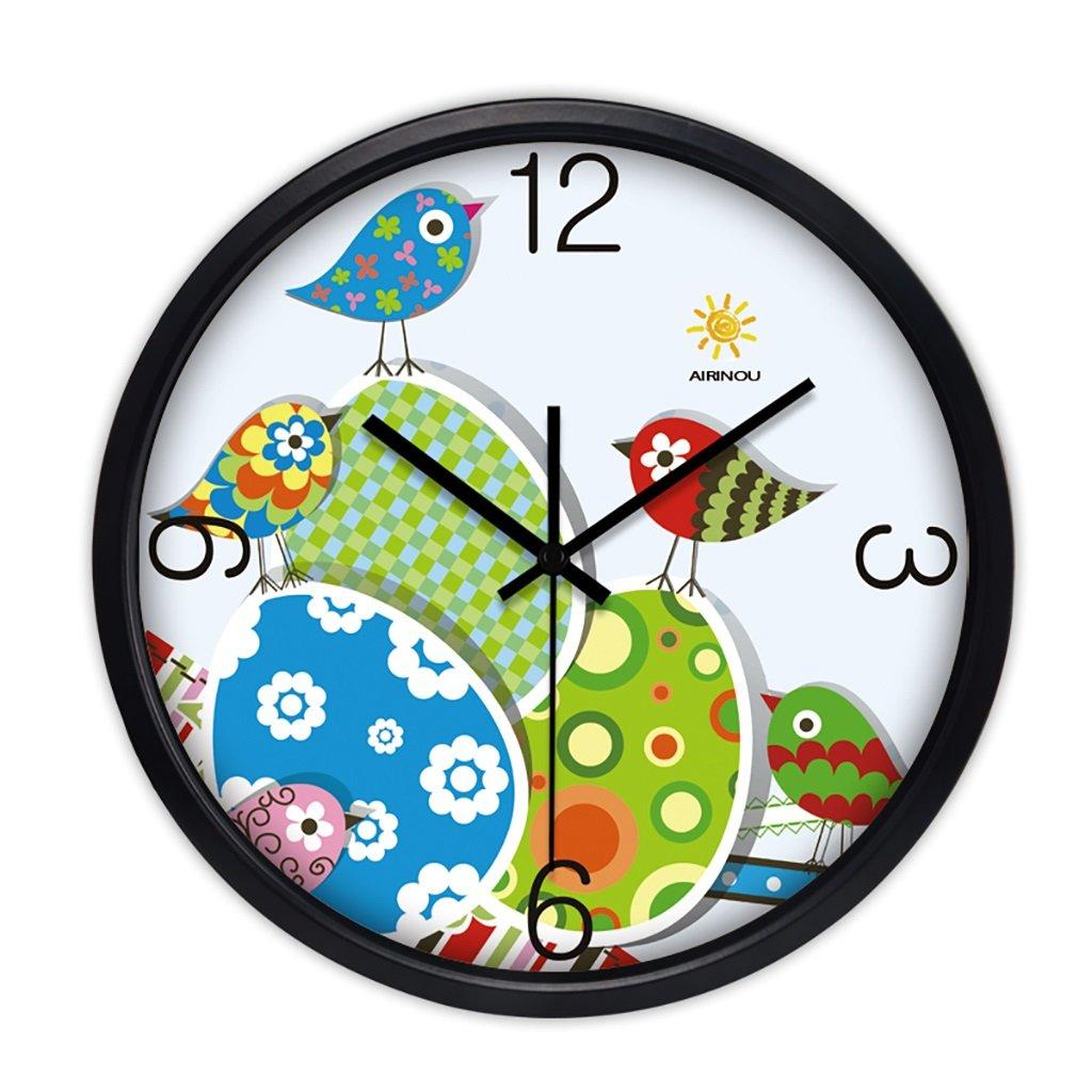 リビングルームクリエイティブ現代の時計クォーツ時計のベッドラウンドパーソナリティシンプルな静かなウォールクロック (色 : 2, サイズ さいず : 14in) B07FPVHXHV 14in 2 2 14in