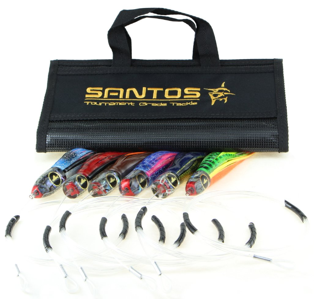 Santos Tournament Grade Tackle Tuna/Dorado Offshore Big Game Trolling Lure Pack by Santos Tournament Grade Tackle
