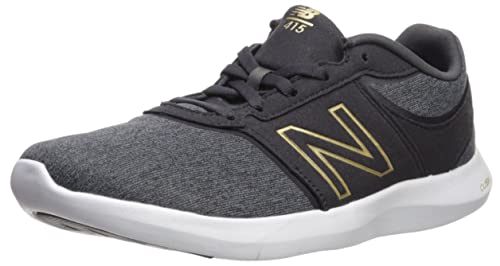 New Balance Wl415v1, Scarpe Sportive Indoor Donna, Nero (Black), 37.5 EU