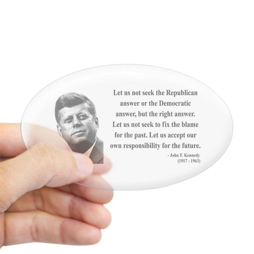 Amazon com cafepress john f kennedy 6 oval sticker oval bumper sticker euro oval car decal home kitchen
