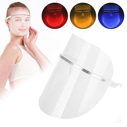 Máscara de luz LED, rojo y azul y amarillo Máscara de ...