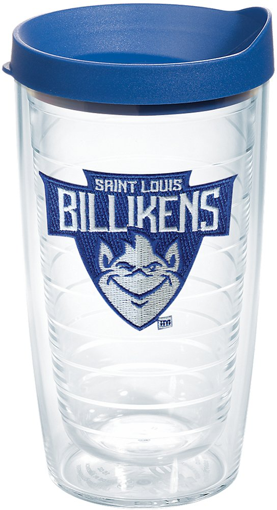 Tervis 1227548 Saint Louis Billikens Primary Logo Tumbler with Emblem and Blue Lid 16oz, Clear