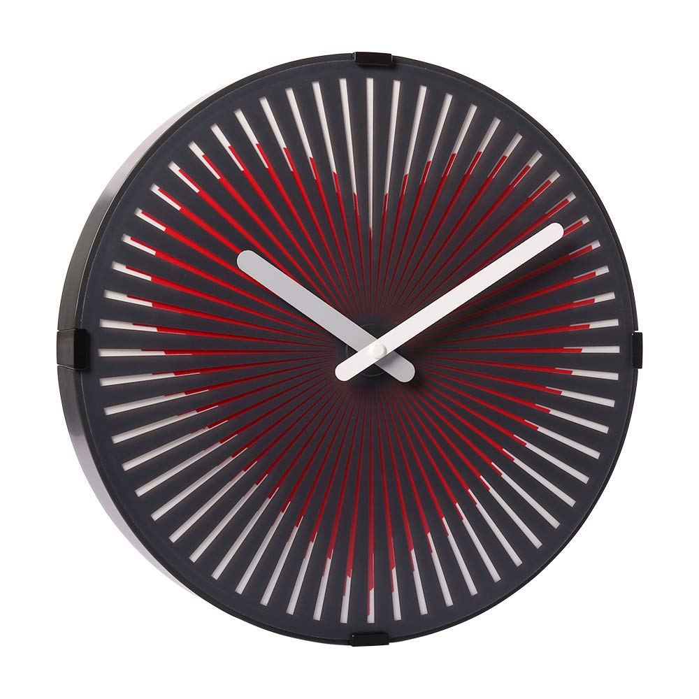 Wall Clock With Motion Heart Design 12 Inch Non Ticking Quartz Block Diagram 400 Modern Style Clocks For Office Home Decor Kitchen