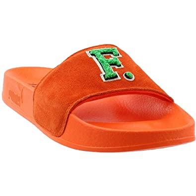 a3ca62318a9a PUMA Unisex Leadcat Fenty Slide Scarlet Ibis Bright Green 6 Women   4 Men M