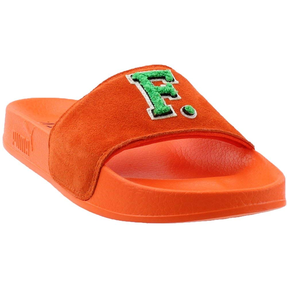 best service 511d0 beca9 PUMA Unisex Leadcat Fenty Slide Scarlet Ibis/Bright Green 10 Women / 8 Men  M US