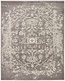 Rivet Charcoal Distressed Medallion Rug, 8' x 10'