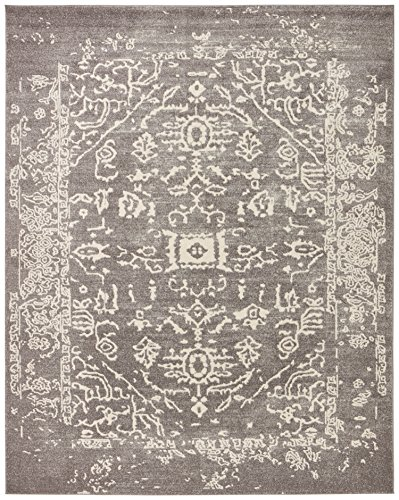 Rivet Charcoal Distressed Medallion Rug, 8' x 10' by Rivet