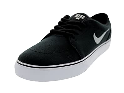 Nike Men's NIKE SATIRE CANVAS SKATE SHOES 8.5 Men US (BLACK/METALLIC SILVER/