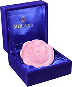 Small Keepsake Urns for Ashes - Mini Cremation Box - Aluminum Hand Made - Fits a Small Amount of Cremated Remains - Display Burial at Home or Office Decor ( Pink Rose Flower Shape