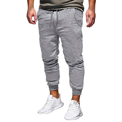 7ace3315e42f8 LuckyGirls Hombre Pantalón Deportivo Jogger Espesamiento Estilo Urbano  Pantalones Casuales para Hombre Chándal de Hombres Recto