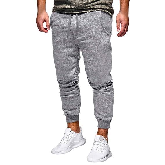 Pantalones de chándal casuales de tubo recto para hombres