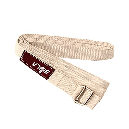 Amazon.com : Cotton Yoga Strap With Metal Ring Buckle ...