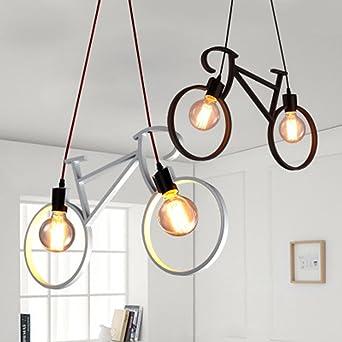 Lámpara colgante de techo (E27), moderna, minimalista, de hierro ...