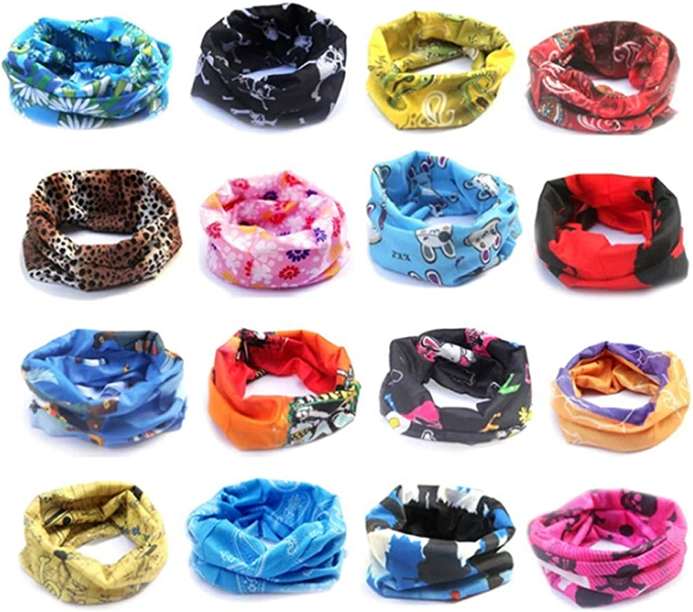 Kylin Express Versatile Sport Headwear//Headband//Hood Mask Neckerchief Fire Blue