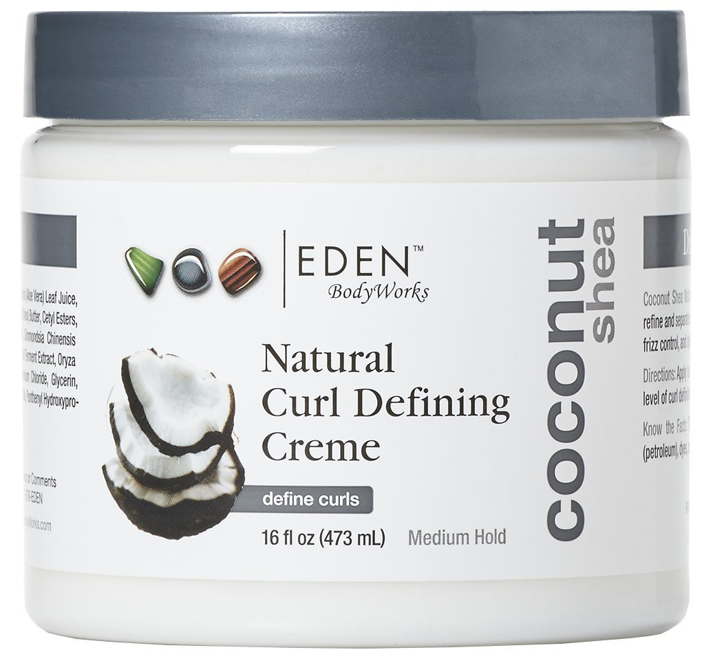 EDEN BodyWorks Coconut Shea Curl Defining Creme |16 oz | Moisturize Protect Against Humidty, Add Shine - Packaging May Vary
