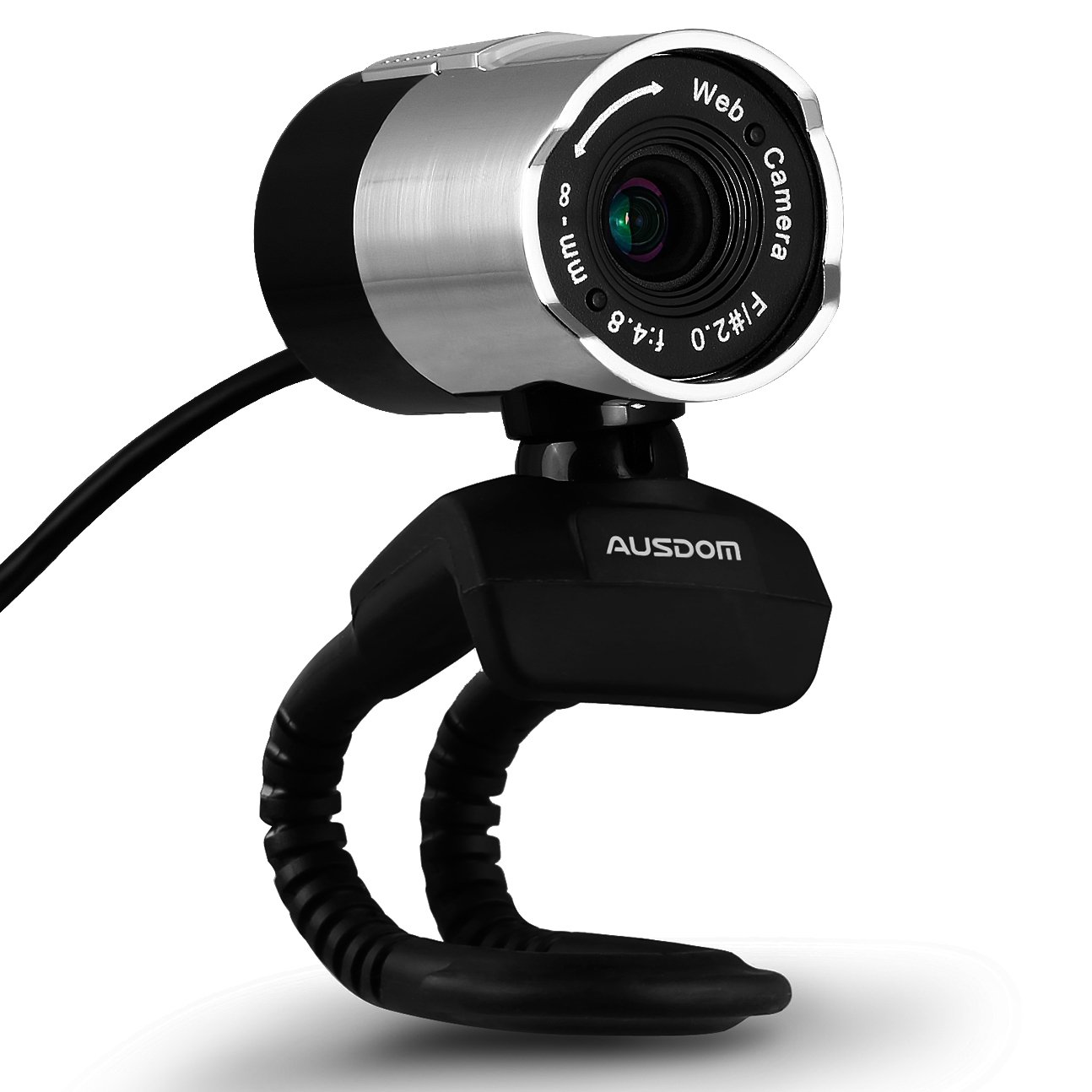 Ausdom Web Camera Full HD Web cam with Microphone Video Calling and Recording for Computer, Laptop and Desktop Plug and Play 360 Degree rotatable Computer Camera for Skype, YouTube