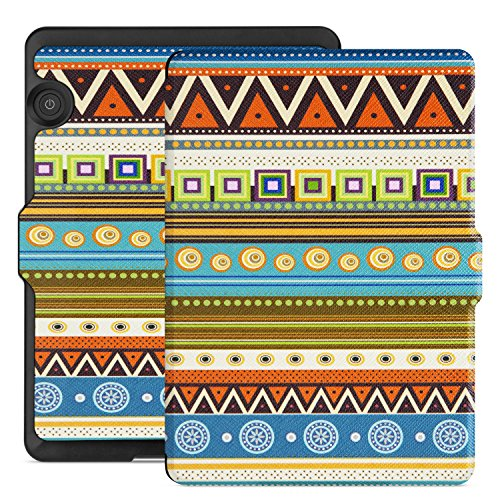 Ayotu Case for Kindle Voyage E-reader Auto Wake and Sleep Smart Protective Cover, For 2014 Kindle Voyage Case Painting Series KV-04 The Totem by Ayotu
