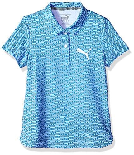 (PUMA Golf Teen-Girls 2018 Polka Dot Polo, Nebula Blue, X-Large)