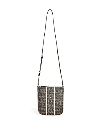 Amazon.com  GUESS Factory Women s Nichols Logo Crossbody Bag Handbag  (Natural)  Chic Happen 09cde9b44d681