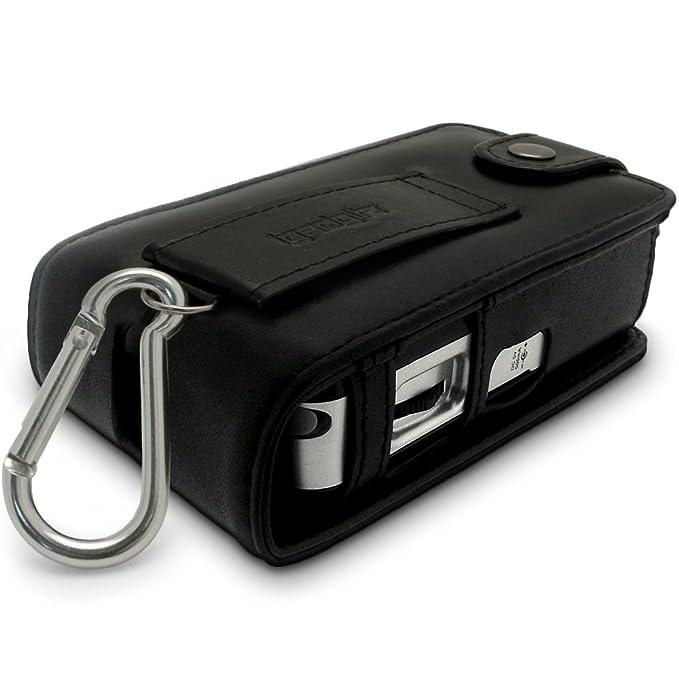 iGadgitz - Funda con tapa y enganche trasero para radio Roberts Sports DAB 2 (cuero), color negro: Amazon.es: Electrónica
