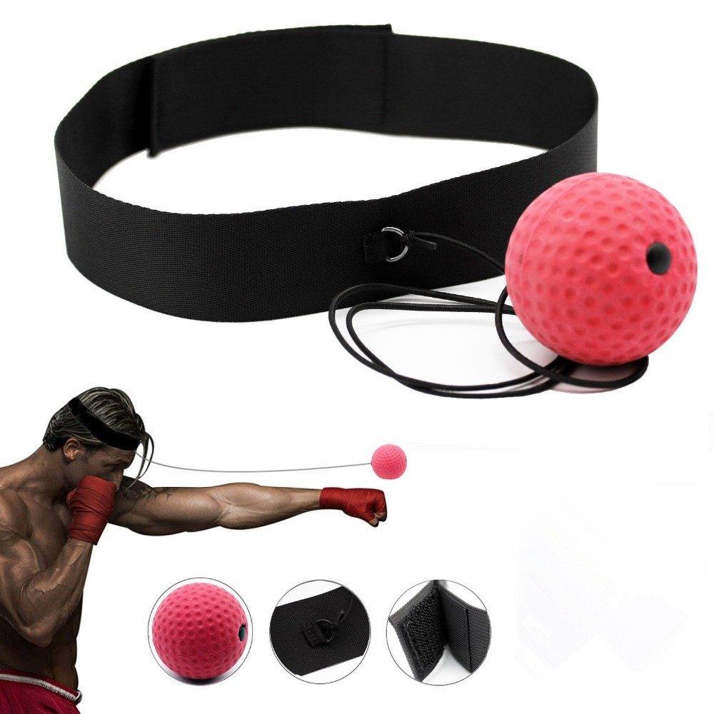 Cotrdocigh Fighting Boule d'entraînement à la Main la Coordination Œil avec Arceau Punching Ball, Portable, afin d'améliorer la Vitesse de Réaction et pour l'entraînement et de Fitness