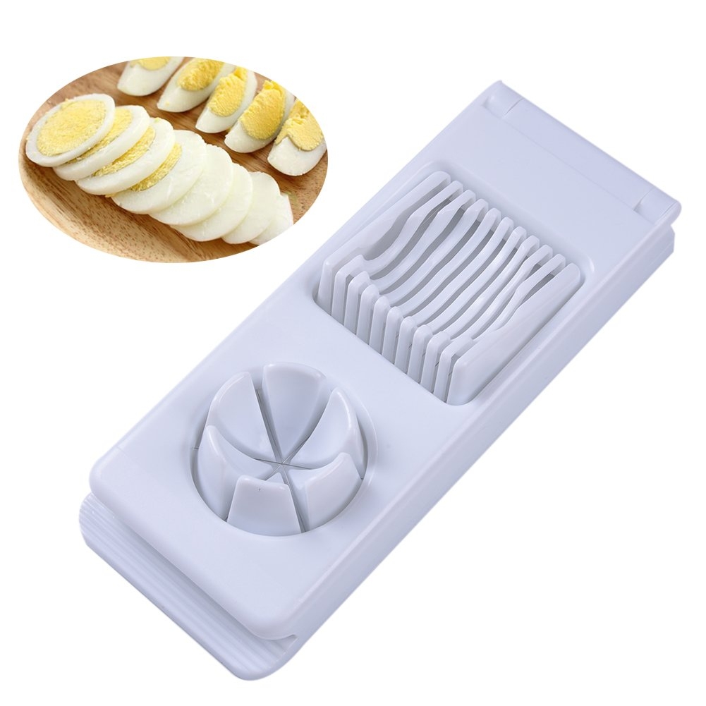 Egg Slicer Dual Function Egg Dicer Wedger Features Stainless Steel Blades by Samber