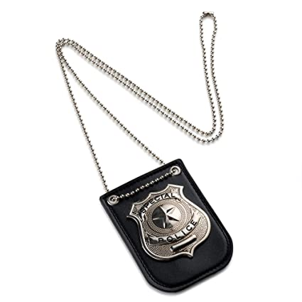 amazon com dress up america pretend play police badge with chain